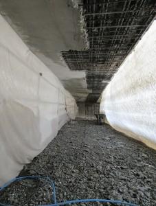 Réparation de la sous face du passage inférieur